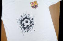 football – T-shirt painting