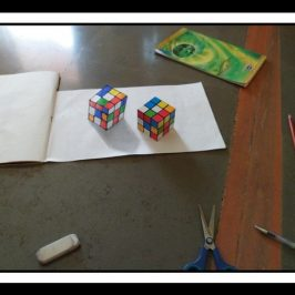 3D art of cube