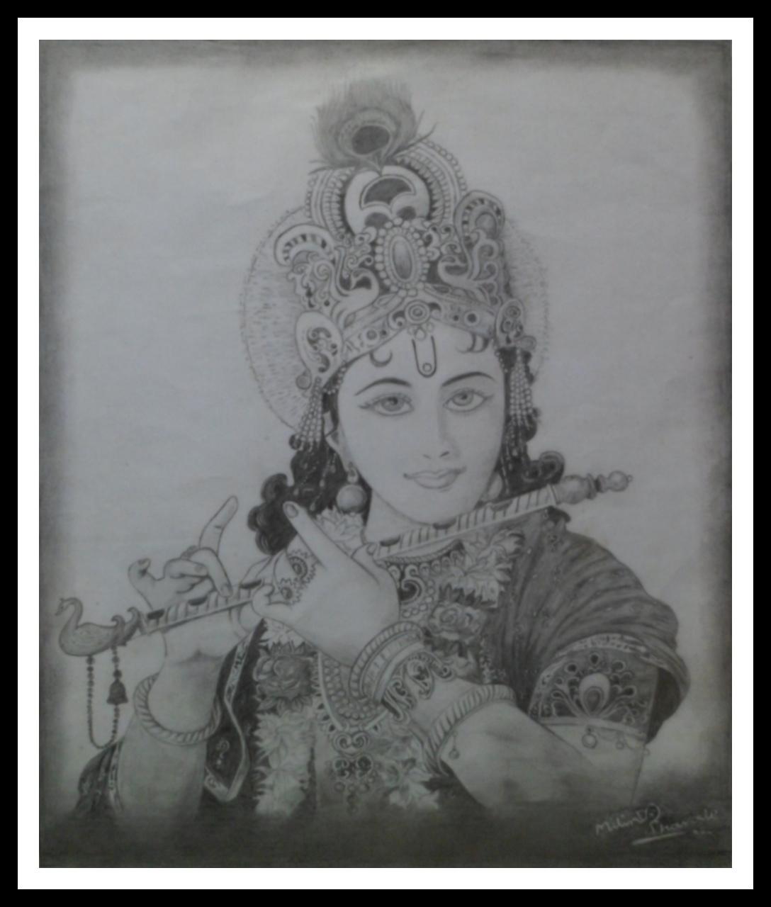 Lord Krishna Sketching U2022 MojoDroit